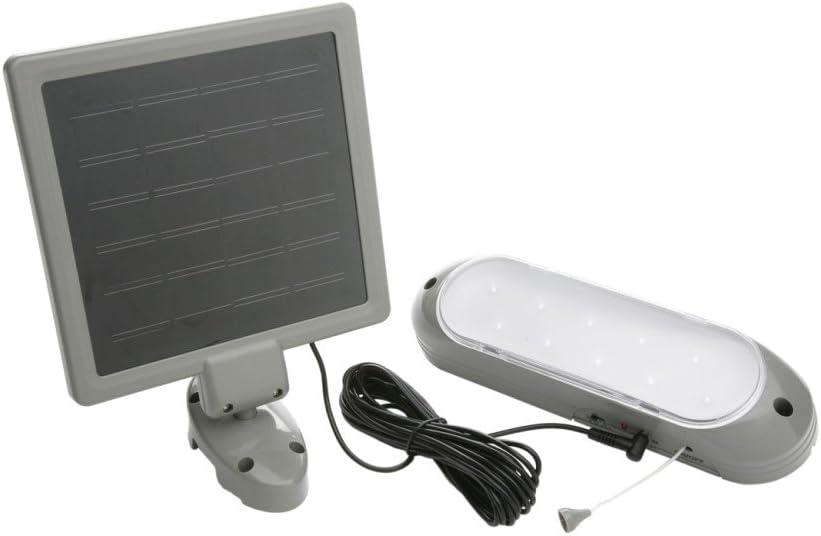 Foco Solar LED 18W Mando a Distancia Bater/ía Autonom/ía 6-8 Horas Iluminaci/ón Exterior con Panel Solar Luz C/álida 2700K Luz C/álida 2700K, 1 Foco 18W