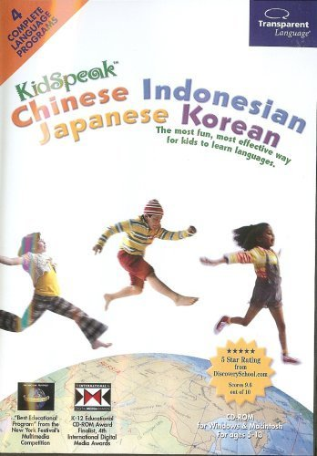 KidSpeak Chinese, Indonesian, Japanese & Korean Language Tutor for Beginners