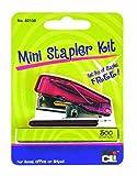 Charles Leonard Mini Stapler Kit with 500 Staples, Assorted Colors (82100)