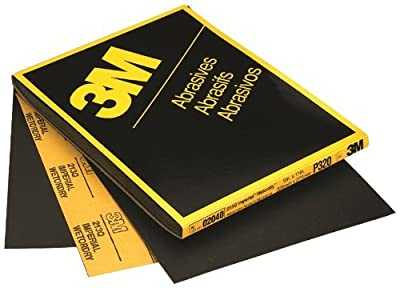 "3M 02035 9"" x 11"" P800 Grit Wetordry Sanding Sheets, 50 Sheets"