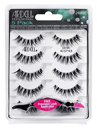 9e36de81973 Amazon.com : 5 Pack Black Wispies Lashes : Beauty