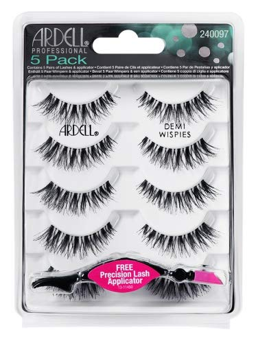 5 Pack Black Wispies Lashes -