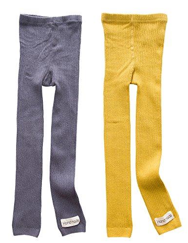 TESOON Kid Girl's Cotton Knitted Full Length Leggings (Wool Cotton Leggings)