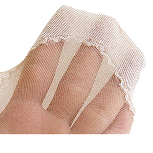 COIN Transparenten Söckchen für Frauen 2/3/5 Paar knöchelhoch,Anti-Rutsch-Baumwollsohle Seidig Feinsöckchen Schwarz/Grau/hautfarben Weiß*5