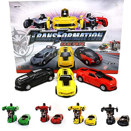 KOKOBUY 1PCS Mini Car Toys Durable Children Creative Collision Deformation Inertia Toy Cars