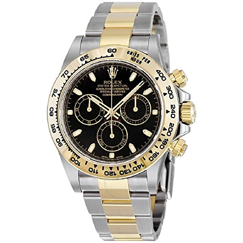 Rolex Oyster Perpetual Cosmograph Daytona 40MM Stainless Steel Case, 18K Yellow Gold Tachymeter Engraved Bezel Black Dial, Stainless Steel And 18K Yellow Gold Oysterlock Bracelet.