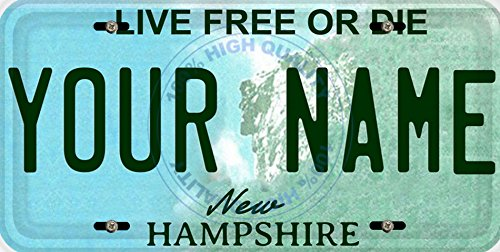BleuReign(TM) Personalized Custom Name New Hampshire State Car Vehicle License Plate Auto Tag (ALL STATES AVAILABLE)