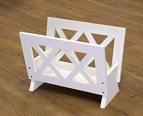 Frenchi Home Furnishing Contemporary Magazine Rack, white