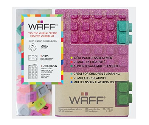 WAFF Soft Silicone Cover Glitter Combo Personaiized Notebook