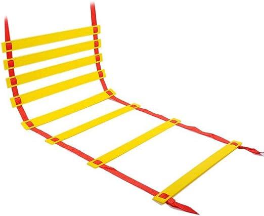 Kofferraum Escalera ágil, sección Gruesa, 5 Metros, 10 Nudos, fútbol Saltando de cuadrícula, de formación Paso, Velocidad de Escalera, Saltar cuadrícula,Rojo: Amazon.es: Hogar