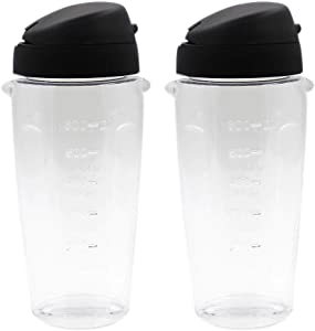Anbige 2 pieces Oster Blender Replacement Parts Cups 20oz Smoothie Bottle Accessory Compatible with Oster Classic Series Blender