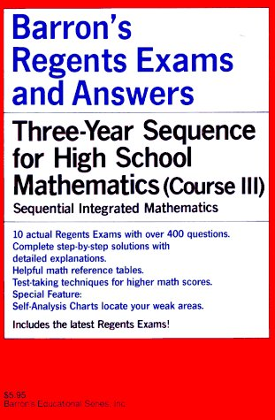 Barron's Regents Exams and Answers - Sequential Math Course III