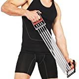FITNESS MANIAC Chest Expander Adjustable 5 Spring Exercise Fitness Strength Training Gripper