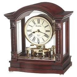 Bulova B1987 Bardwell Clock, Antique Walnut Finish