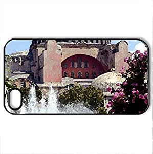Beautiful Mosque - Case Cover for iPhone 4 and 4s (Watercolor style, Black)