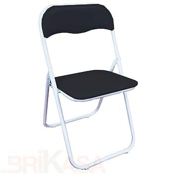 Brikasa Juego de 6 sillas Plegables Slim Acolchada, con ...