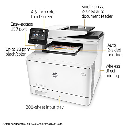 hp laserjet pro m477fdw multifunction wireless color laser printer with duplex printing amazon. Black Bedroom Furniture Sets. Home Design Ideas