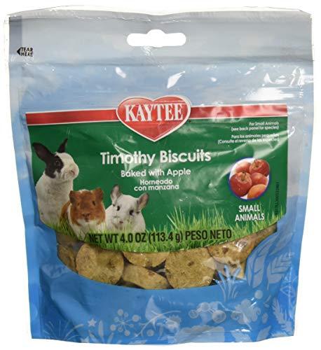 (Kaytee (6 Pack) Timothy Hay Baked Apple Small Animal Treats, 4-Ounce)