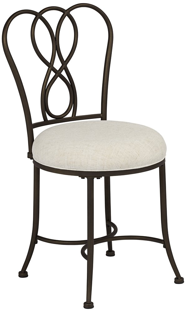 Hillsdale Furniture 50994 Christina Vanity Stool, Bronze