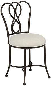 Hillsdale Furniture 50994 Christina Vanity Stool, Bronze