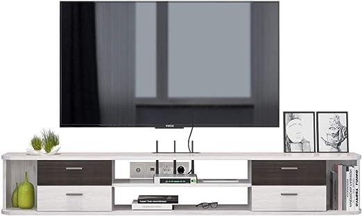 Montado en la pared de TV Plataforma flotante Plataforma 1.42m TV Media Muebles Set Top Box DVD Proyector Router Estante de almacenamiento de audio-vídeo Estanterías Televisión Soportes con 4 cajones: Amazon.es: Hogar