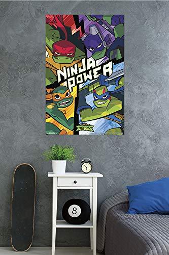 Trends International Rise of The Teenage Mutant Ninja Turtles Wall Poster Multi