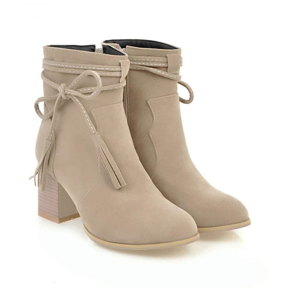 PINGXIANNV Stiefel Frauen Weibliche Mode Schuhe Frau High Heels Stiefel Stiefeletten Partei