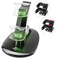 Megadream Dual USB Charging Charger Docking Station Stand for Playstation 4