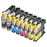 8 Pack Compatible Brother LC105 2 Black, 2 Cyan, 2 Magenta, 2 Yellow for use with Brother MFC-J4310DW, MFC-J4410DW, MFC-J4510DW, MFC-J4610DW, MFC-J4710DW, MFC-J6520DW, MFC-J6720DW, MFC-J6920DW. Ink Cartridges for inkjet printers. LC101BK , LC103BK , LC105C , LC105M , LC105Y © Zulu Inks