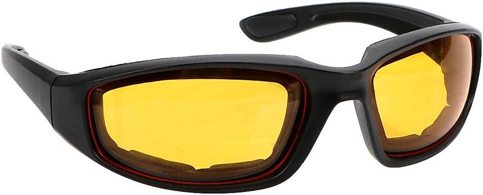 iTimo - Gafas de visión nocturna para conductores, antideslumbrantes, para motocross, visión nocturna, protección UV, gafas de sol (amarillo)