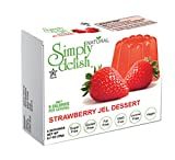 Simply delish Natural Strawberry Jel Dessert, Sugar free, 0.7 oz., 24-6 packs – Fat Free, Gluten Free, Lactose Free, Non GMO, Kosher, Halal, Dairy Free, Natural
