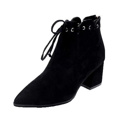 el más nuevo 33f63 60122 POLPqeD Zapatos Mujer Botines Tacon Ancho Negros Botines señora Botines  Mujer Tacon Botines Comodos Invierno Botines Altos con Plataforma Botas  Altas ...