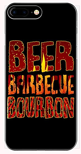 Grill Phone Case for iPhone 6+, 6S+, 7+, 8+ - Beer Bourbon - BBQ Themed Gift ()