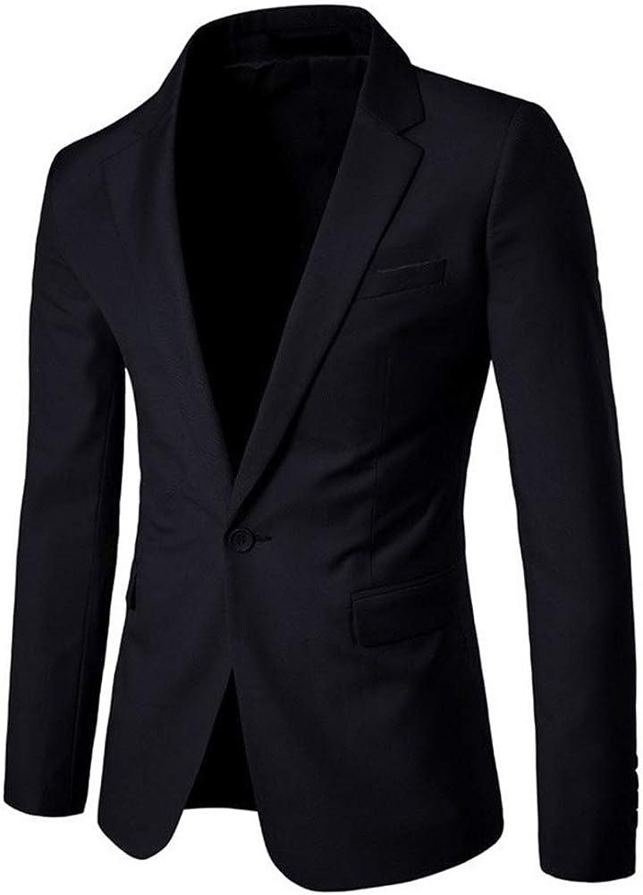 Guiran Herren Slim Fit Sakko Blazer Anzug Jacke Casual Freizeit Anzugssakko