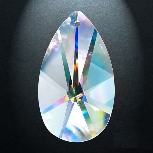 Asfour Crystal 873 Pear-Shape Clear Crystal Prism, 2.5-Inch, 1 Hole , Box of 45 Pieces by Asfour (Image #1)
