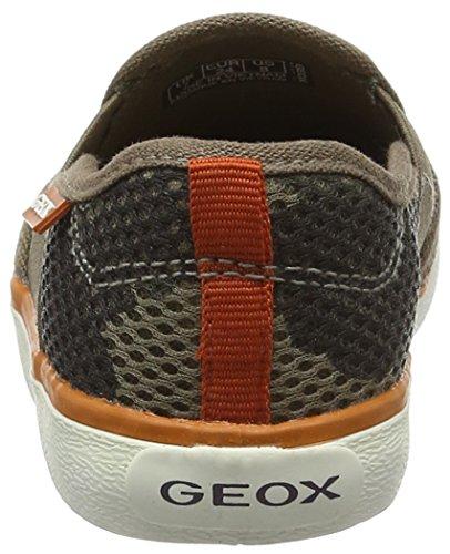 Geox Jr Kilwi Boy, Zapatillas para Niños Marrón (Taupe/Orange C6048)