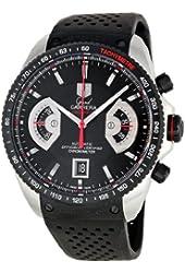 TAG Heuer Men's CAV511CFT6016 Grand Carrera Black Dial Watch