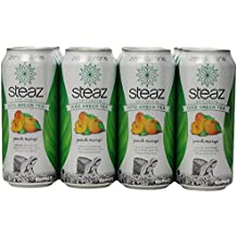 Steaz Zero Calorie Iced Green Tea, Peach Mango, 16 Ounce (Pack of 12)