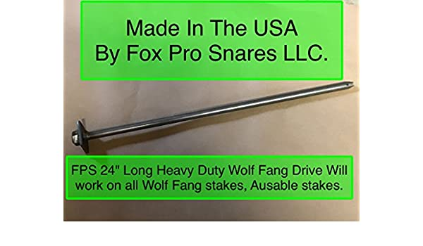 12 WOLF FANG CABLE STAKE ENDS HEADS dozen trapping traps coyote fox anchors