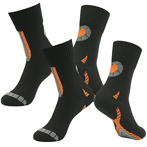 Mud Sports Socks, RANDY SUN Men's Socks-The Best Waterproof Socks For Trail Running Obstacles Courses Two Pairs Size Medium