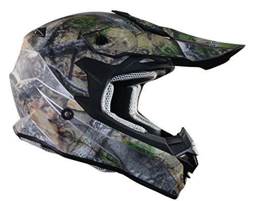 Vega Helmets VF1 Lightweight Dirt Bike Helmet – Off-Road Full Face Helmet for ATV Motocross MX Enduro Quad Sport, 5 Year Warranty (Skull Camo Graphic Large Unisex (Road Vented Full Face Helmets)