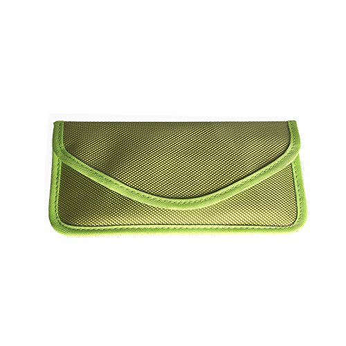 Cell Phone Anti-Tracking Anti-Spying GPS RFID Signal Blocker Pouch Case Bag Handset Function Bag (Green)