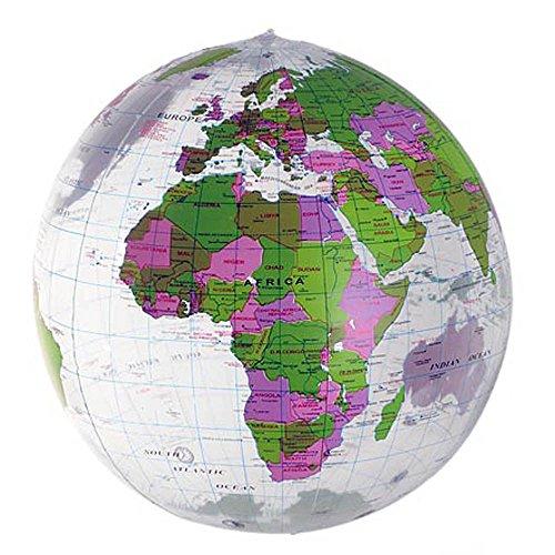 HAB & GUT (EB002) Aufblasbarer Globus (geprüfte Qualität) Wasserball, transparent, Phthalate-frei Ø 45 cm