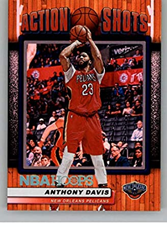 8141b7996f95 2018-19 Panini Hoops Action Shots  5 Anthony Davis New Orleans Pelicans  Basketball Card