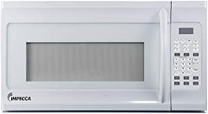 "Impecca 1.6 cu. ft. Over-the-Range 30"" Microwave Oven 1000 Watts, with Surface Light, 2 Speed Vent System, Touchpad Controls, Digital Clock, Timer, LED Display and Child Lock, White"