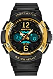 Kids Fashion Digital Sports Watch Alarm Stopwatch Waterproof Black Electronic Watches