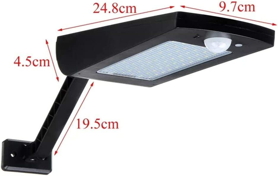 LPLCUICAN LED Bulbs 66 LED 1000Lm Solar Wall Light Outdoor Adjustable Motion Sensor Street Lamp with Remote Controller LED Light