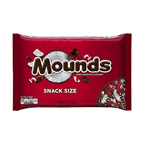 (MOUNDS Dark Chocolate and Coconut Candy Bars, Snack Size, 11.3 Ounce (Pack of 6) )