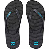 Billabong Men's Dunes All Day Sandal Flip Flop, Black/Blue, 12 US/12 M US