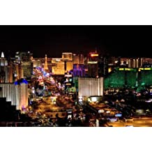Las Vegas poster The Strip At Night Mini Poster 11inx17in